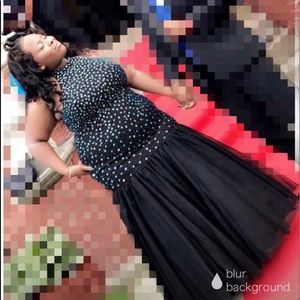 Dresses & Skirts - Plus size prom dress dress (black and iridescent)